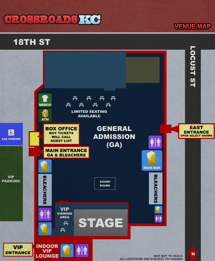 CrossroadsKC Venue Map