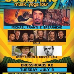 Michael Franti & Spearhead will be headlining the Soulshine Tour at Crossroads in KC on July 8th with SOJA, Brett Dennen and Trevor Hall!